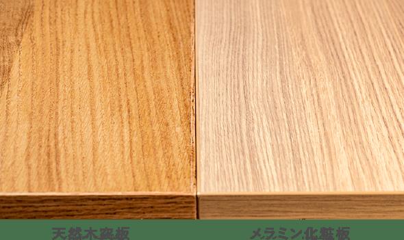 天然木突板とメラニン化粧板